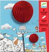Създай сам картини с изненада - Забавна топка - Творчески комплект за оцветяване -