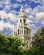 Рисуване по номера - Бялата кула - Комплект за картина с размери 50 x 40 cm -