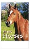 Стенен календар - Horses 2018 -