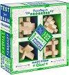 """Дървени пъзели - Четири 3D пъзела от серията """"Games club"""" -"""