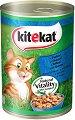 Kitekat Can Fish in Gravy Adult - Риба в сос грейви за котки в зряла възраст - консерва от 400 g -