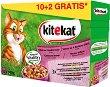 Kitekat Pouch Mix Menu in Jelly - Смесено меню в желе за котки в зряла възраст - опаковка от 12 пауча x 100 g -