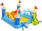 Детски център - Рицарски замък - Комплект с надуваеми играчки -