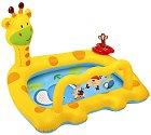 Надуваем бебешки басейн - Жирафче -