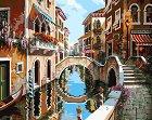 Рисуване по номера - Река в града - Комплект за картина с размери 50 x 40 cm -