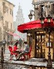 Рисуване по номера - Романтична среща - Комплект за картина с размери 50 x 40 cm -
