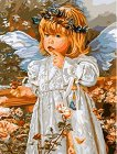 Рисуване по номера - Ангел - Комплект за картина с размери 50 x 40 cm -