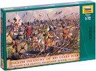 Английска пехота от Стогодишната война - Комплект от 45 фигури -