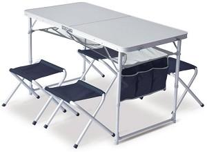 Къмпинг маса с 4 стола -