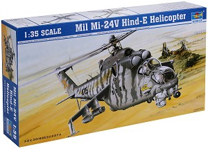 Военен хеликоптер - Mil Mi-24V Hind-E - Сглобяем авиомодел -