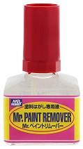 Течност за премахване на боя от модели и макети - Mr. Paint Remover - Шишенце от 40 ml -