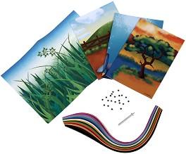 Комплект за квилинг - Растения и животни -