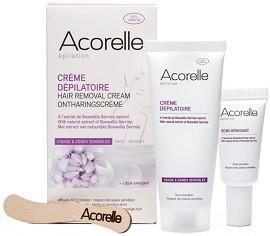 Acorelle Hair Removal Cream - Комплект от крем депилатоар за лице и успокояващ крем с натурални масла -