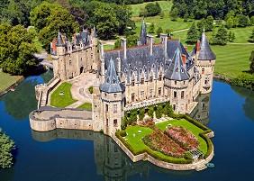 Замък в Долината на Лоара, Франция -