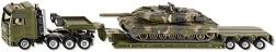 """Влекач с ремарке и танк - Метални играчки от серията """"Super: Military"""" -"""