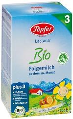 Преходно мляко - Lactana Bio 3 - Опаковкa от 600 g за бебета над 10 месеца -