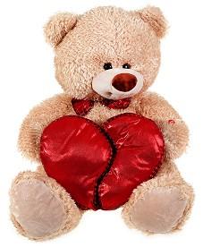 Мече с разделящо се сърце - Плюшена играчка -