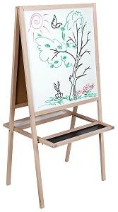 Комбинирана дъска за рисуване и писане -