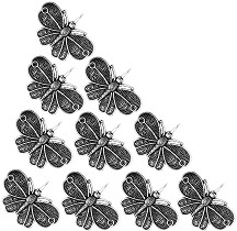 Метални висулки - Пеперуди - Комплект от 10 броя -
