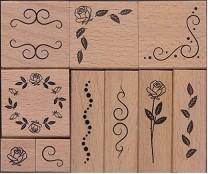 Гумени печати - Орнаменти - Комплект от 10 броя -