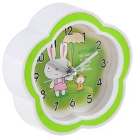 Зайче и кученце - Детски настолен часовник -