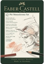 Графичен комплект - Pitt Monochrome Set - Комплект от 12 части -