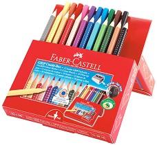 Цветни моливи и флумастери - Jumbo Grip - Комплект от 23 части -