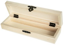 Дървен моливник с капак - Предмет за декориране -