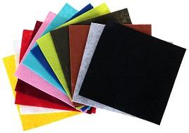 Филц - Комплект от 12 цвята - Размери 15 x 15 cm -