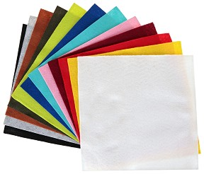 Филц - Комплект от 12 цвята - Размери 30 x 30 cm -