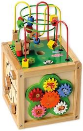 Образователен куб - Дървена играчка -
