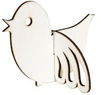 Сглобяема фигурка от шперплат - Птиче - Предмет за декориране с размери 12 x 9.1 cm -