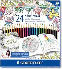 """Цветни моливи - Noris Colour 185 - Комплект от 24 цвята от серията """"#MyCreativeEscape"""" -"""