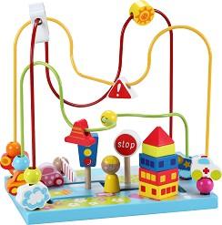 Лабиринт - Дървена играчка за координация -