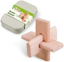 Главоблъсканица - 3D дървен пъзел в метална кутия -