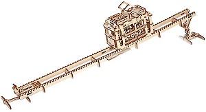 Трамвай с релси - Механичен 3D пъзел -