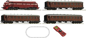 Пътнически влак с дизелов локомотив Di3 - NSB - Дигитален комплект с релси и дистанционно управление -