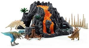 """Вулкан - Комплект фигури и аксесоари от серията """"Праисторически животни"""" -"""