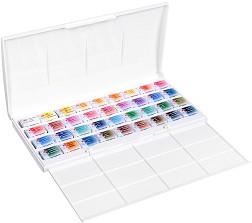 Акварелни бои - Комплект от 36 цвята x 2.5 ml от серията White Nights -