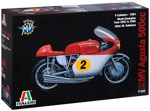 Мотор - MV Agusta 500 cc. 4 cylinders - 1964 - Сглобяем модел -