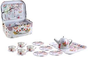 Метален сервиз за чай - Детски комплект за игра -