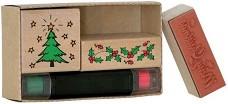 Гумени печати - Коледа - Комплект от 3 броя -