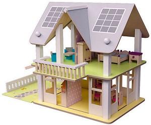 Дървена еко къща - Нанси - В комплект с аксесоари -