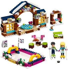 """Ледена пързалка в зимния курорт - Детски конструктор от серията """"LEGO Friends"""" -"""