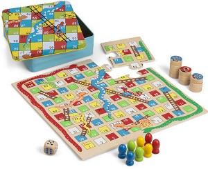 Змии и стълби и морски шах - Детска настолна игра 2 в 1 -