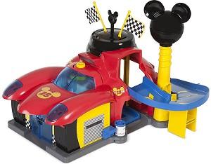 """Гараж - Mickey and the Roadster Racers - Детска играчка с аксесоари от серията """"Мики Маус"""" -"""