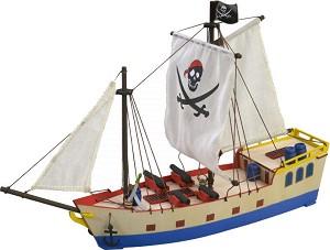 """Пиратски кораб - Дървен детски сглобяем модел от серията """"Junior Collection"""" -"""