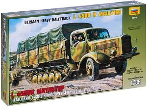 Германски полуверижен камион - L 4500 R Maultier - Сглобяем модел -