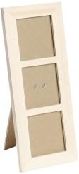 Дървена рамка за 3 снимки - Предмет за декориране -