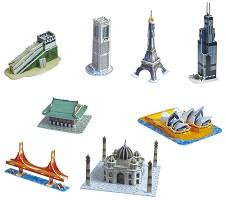 Архитектурни забележителности - Осем 3D мини пъзела -